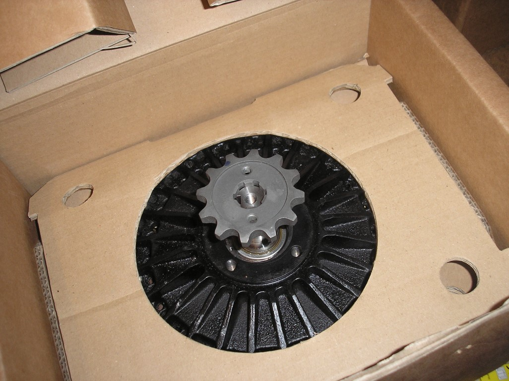E-Streetquad Aluminium plate and new front sprocket