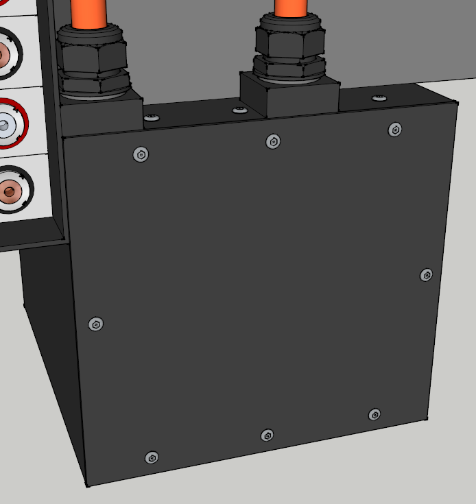 E-Streetquad Biggest battery box done in 3D drawing