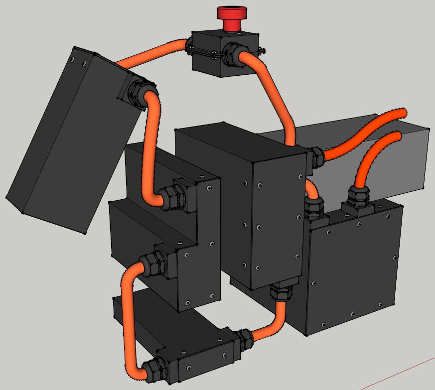 E-Streetquad Alle accu behuizingen klaar in 3D tekening