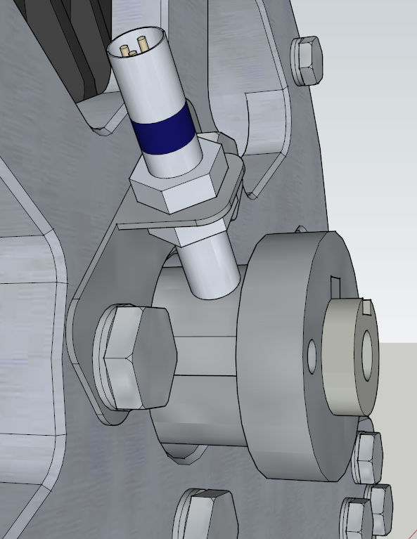 E-Streetquad 3D drawing of adaptor for front sprocket