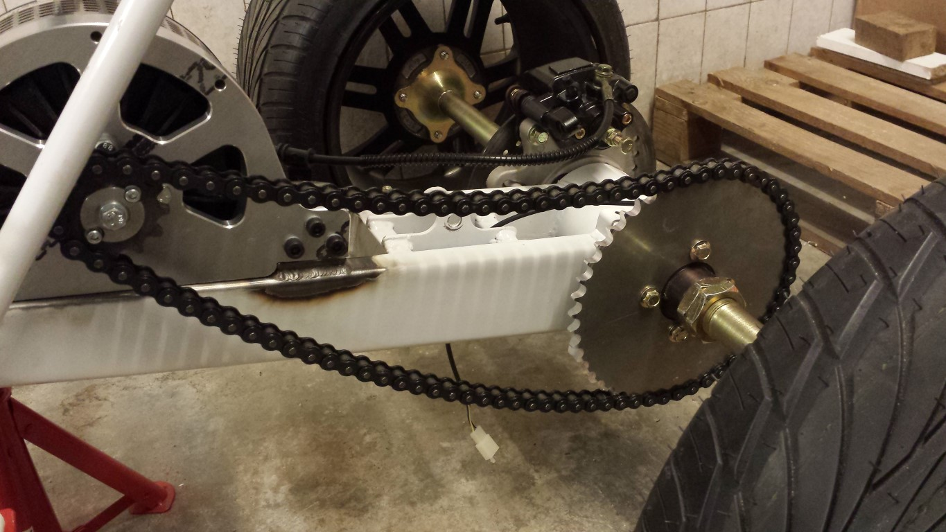 E-Streetquad Adaptor and sprockets done