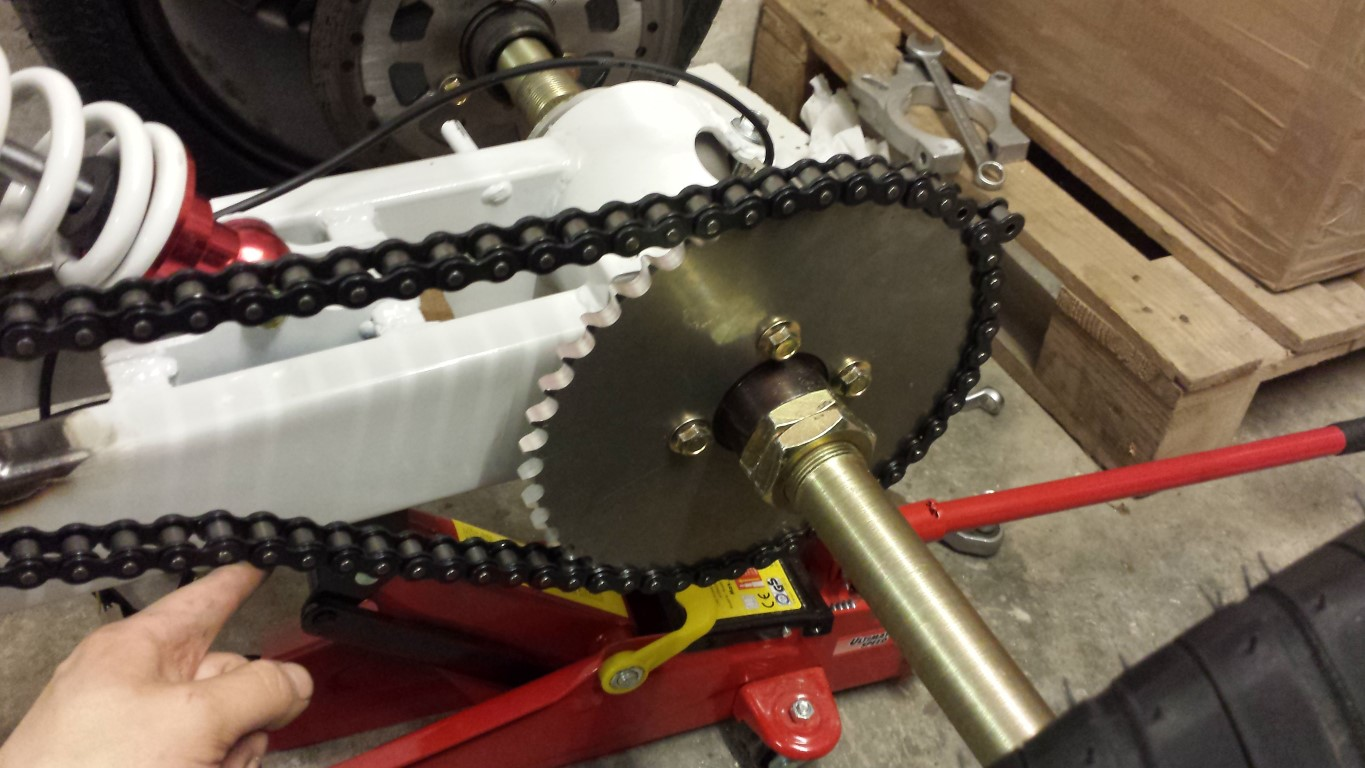 E-Streetquad Chain tightened and another modification needed