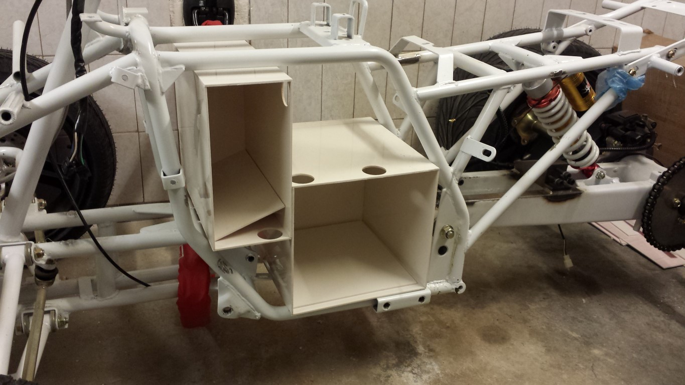 E-Streetquad Continued with battery box #3 and fitted box #1 and #2