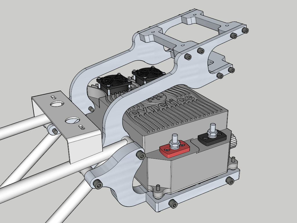 E-Streetquad 3D drawing and fitting of mounts for top case