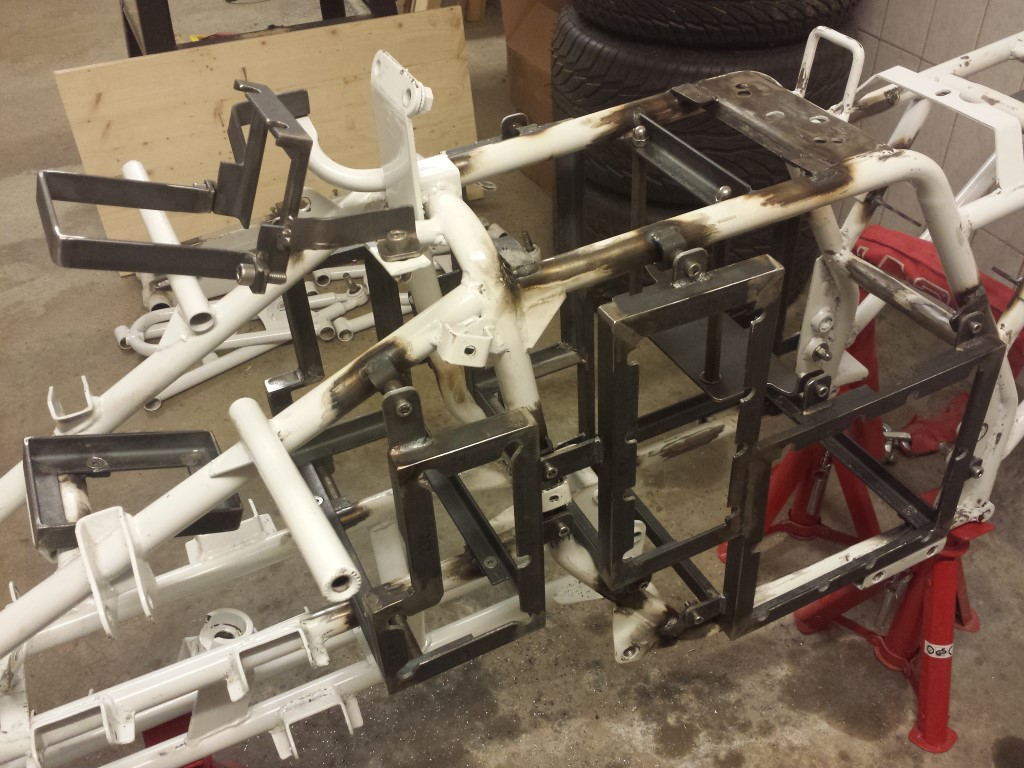 E-Streetquad Frame ready to be sandblasted, new bushings and bearings