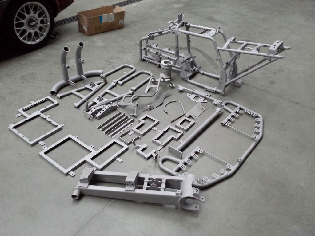 E-Streetquad All parts of the frame sandblasted