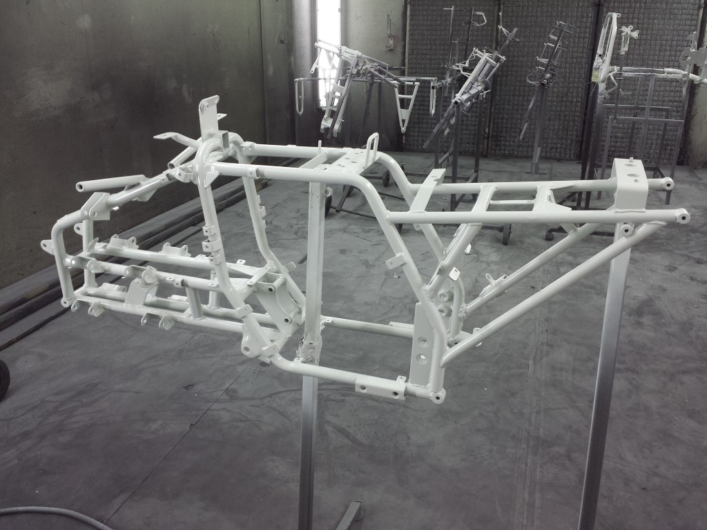 E-Streetquad Epoxy on all of the sandblasted parts