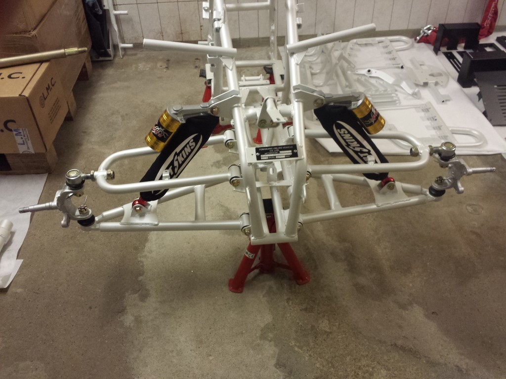 E-Streetquad Upper swingarms and steering knuckles attached