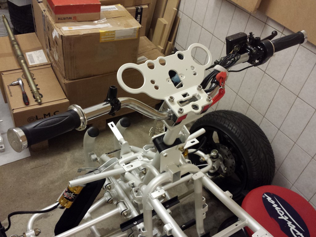 E-Streetquad Aluminium parts sprayed and back home