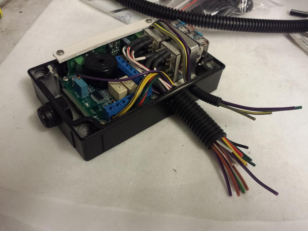 E-Streetquad Accu behuizingen in frame en kabeldoorvoeren