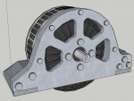 E-Streetquad 3D drawing of the motor mount